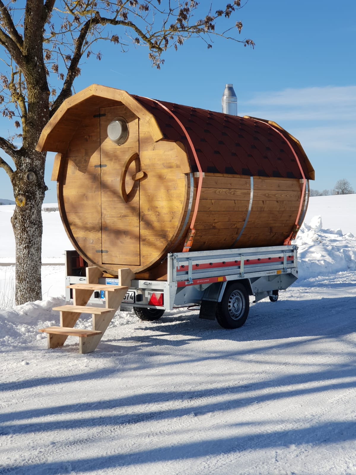 Sauna im Schnee
